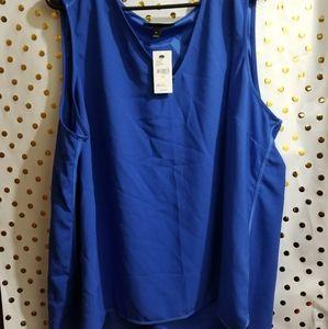 Blue dress material cami/tank top